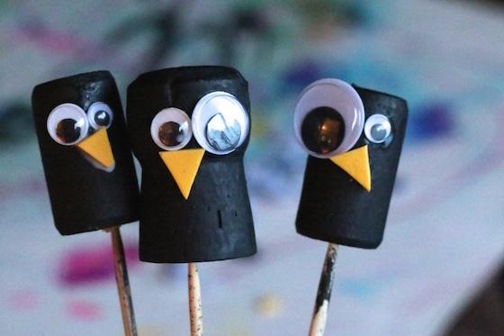 wine cork crow craft