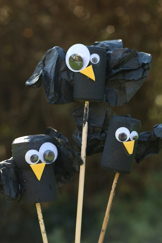 crow craft for kids