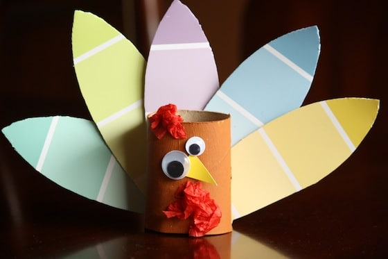 Turkey crafts for toddlers and preschoolers happy hooligans for Toilet paper roll crafts thanksgiving