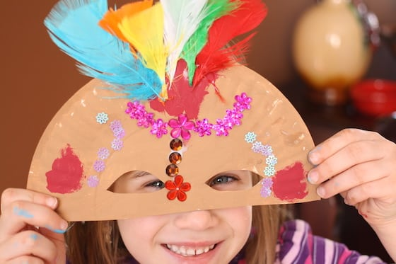 Paper Plate Masquerade Mask : making masks with paper plates - pezcame.com