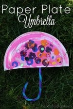 Paper Plate Umbrella Craft for Preschoolers