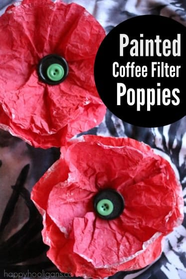 Painted Coffee Filter Poppies - Happy Hooligans