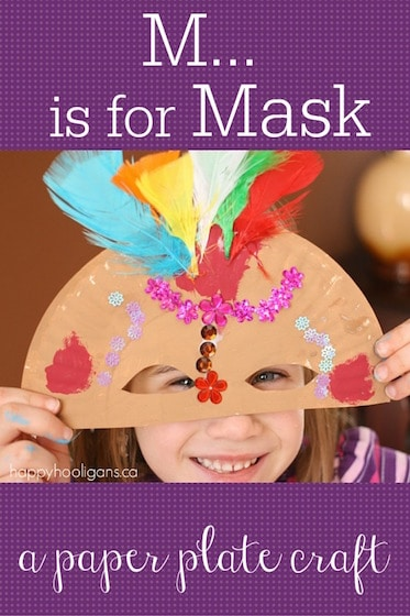 "Paper Plate Mask Craft – ""M"" is for Mask"