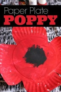 Paper Plate Poppy Craft for Preschool - Happy Hooligans