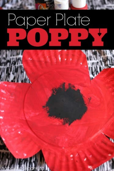 Paper Plate Poppy Craft for Toddlers and Preschoolers