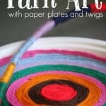 Paper Plate Yarn Art - Happy Hooligans