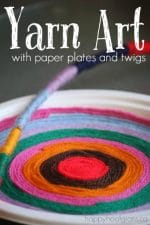 Simple and Beautiful Yarn Art with Paper Plates (or Twigs)