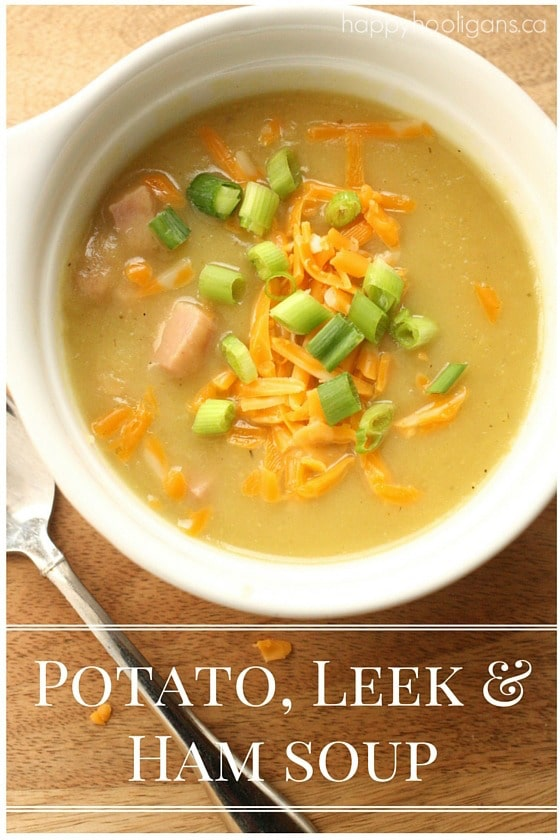 Potato, Leek and Ham Soup Recipe - Happy Hooligans