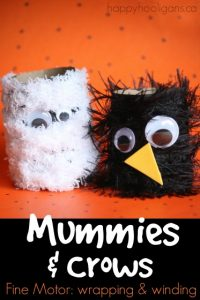Toilet Roll Halloween Craft - Mummies and Crows - Happy Hooligans
