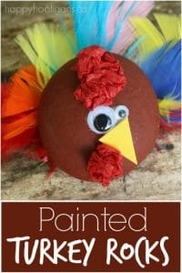 Turkey Craft - painted rocks