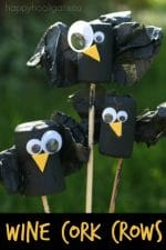 Wine Cork Crows – a Quirky Little Cork Craft for Fall