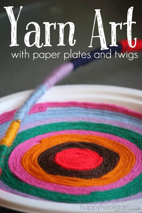Yarn Art - a paper plate craft