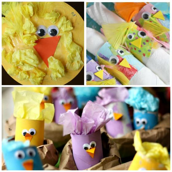 chick crafts for preschoolers to make