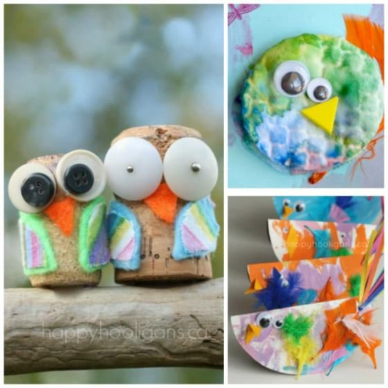 Cute And Easy Bird Crafts For Kids