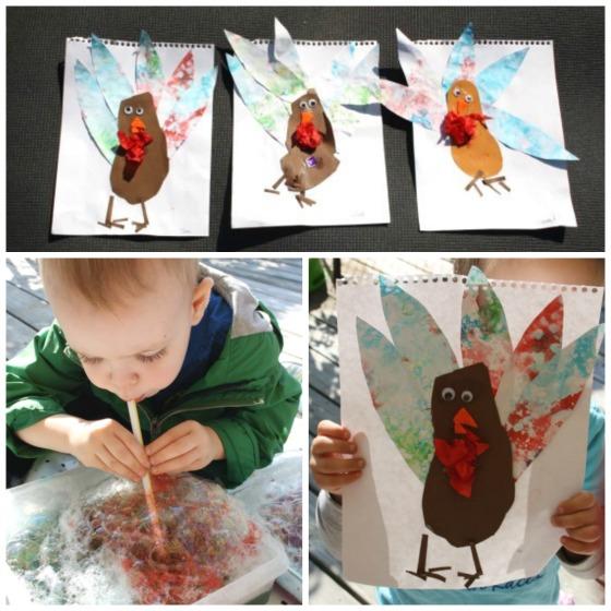 footprint turkey craft for kids