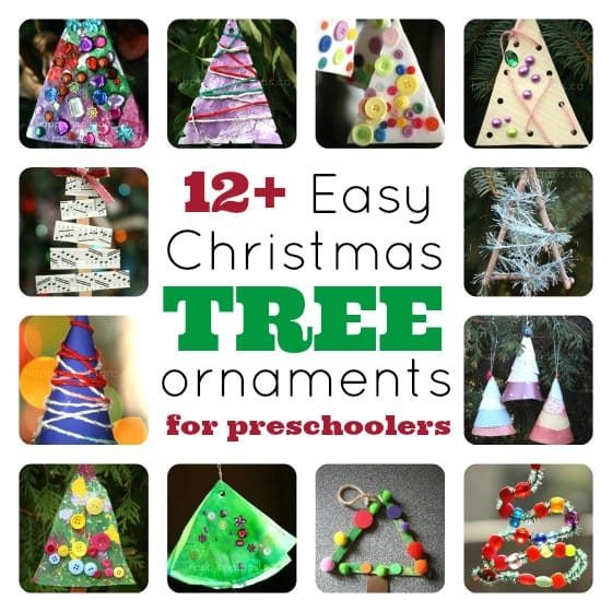 "Christmas Tree"" Christmas Tree Ornaments for Preschoolers to Make"