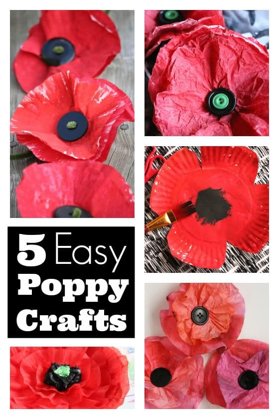 5 Easy Poppy Crafts for Kids - Happy Hooligans