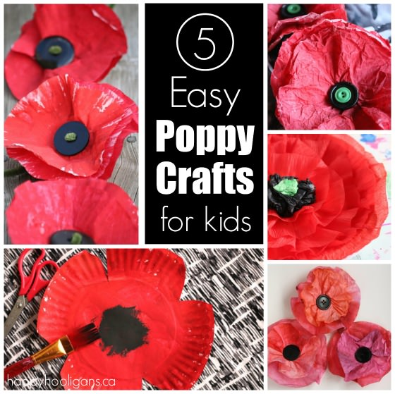 5 easy poppy crafts for kids to make for veterans day and 5 poppy crafts for kids mightylinksfo