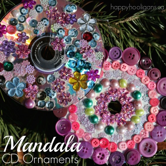 CD Mandala Ornaments