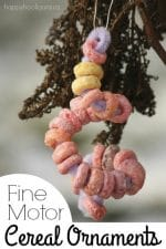 Fine Motor Fruit Loops Ornaments for Toddlers