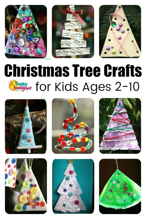 Christmas-Tree-Crafts for Kids