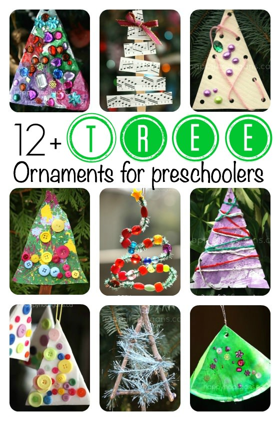 Christmas Tree Ornaments for Toddlers and Preschoolers to Make