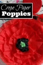 Crepe Paper Poppy Craft for Kids to Make for Remembrance Day