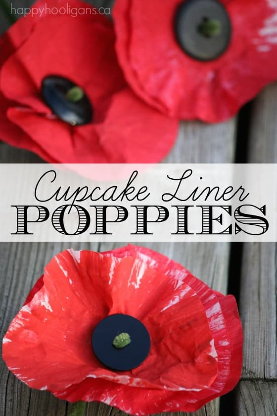 Cupcake Liner Poppy Craft - Happy Hooligans
