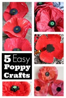 5 Easy Poppy Crafts Round Up