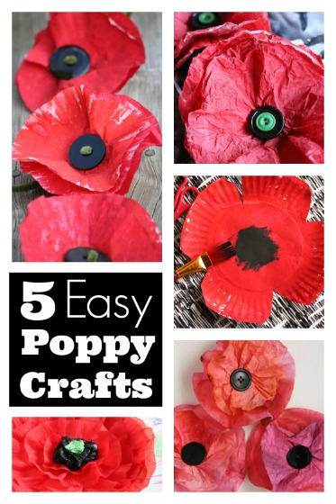 Easy Poppy Crafts for Preschoolers and Toddlers - Happy Hooligans