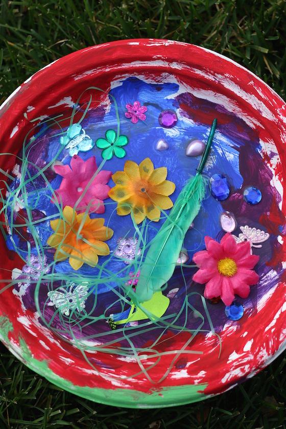 a paper plate garden craft