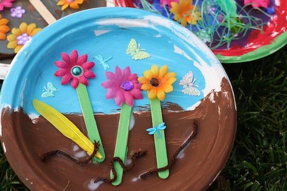 Paper Plate Garden A Letter G Craft For Preschoolers on Spring Sensory Crafts
