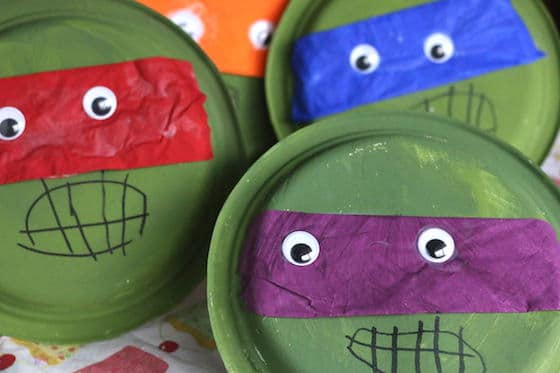 Paper Plate Teenage Mutant Ninja Turtles - Happy Hooligans