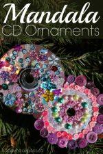 CD Mandala Ornaments for Kids to Make