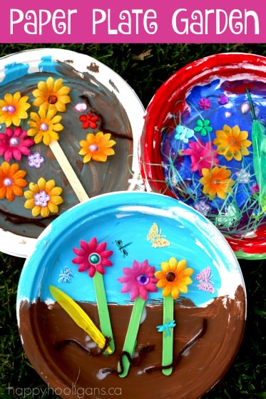 "Paper Plate Garden: a Fun Letter ""G"" Craft - Happy Hooligans"