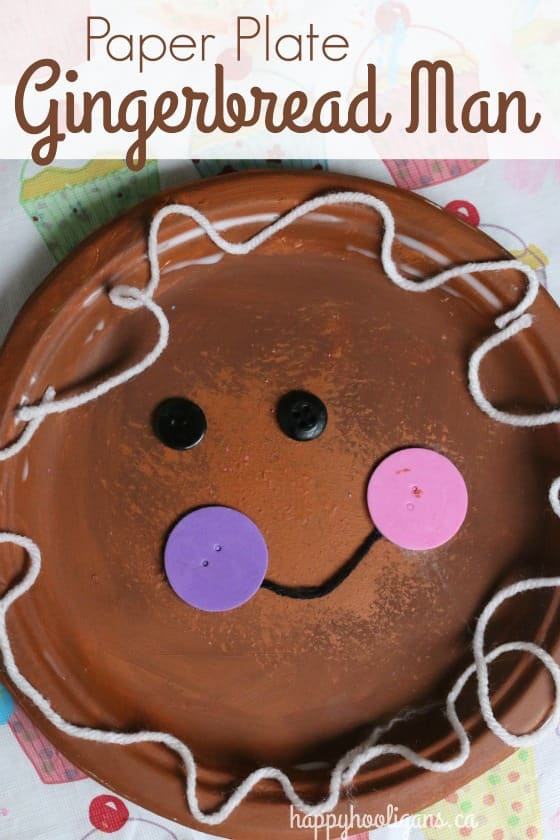 Paper Plate Gingerbread Man Craft - Happy Hooligans