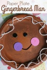 Adorable Paper Plate Gingerbread Man Craft