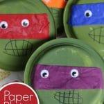 Paper Plate Teenage Ninja Turtle Craft