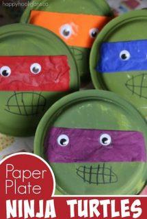 teenage mutant ninja turtles made from paper plates