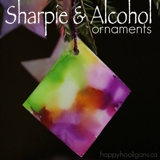 Sharpie tie dye ornaments