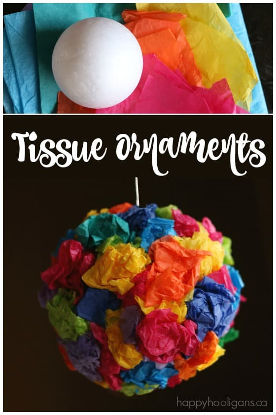 Easy Tissue Paper Ornaments for Kids  Happy Hooligans