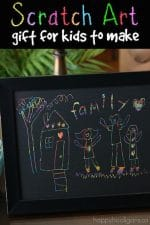 Scratch Art Family Portrait for Kids to Make and Give