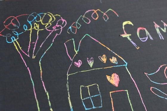 Scratch Art Family Portrait For Kids To Make Happy Hooligans