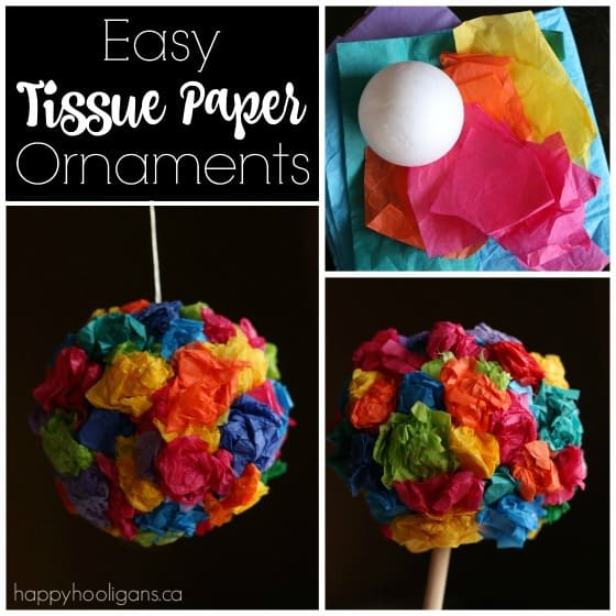 easy tissue paper ornaments