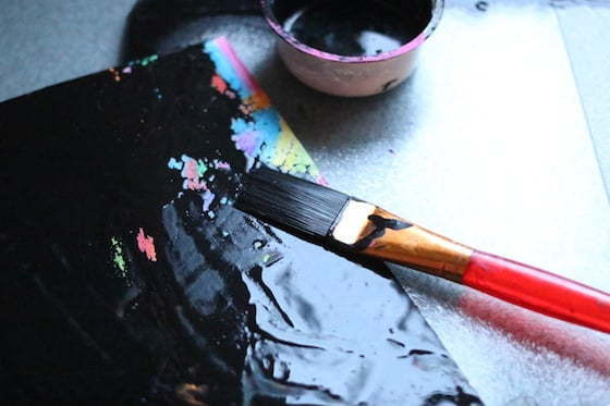 Crayon And Black Paint Art