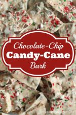 Easy Chocolate Chip Candy Cane Bark