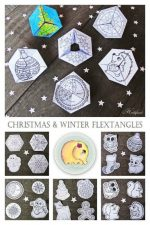 Christmas & Winter Flextangles – a Whimsical Paper Toy to Make for Kids