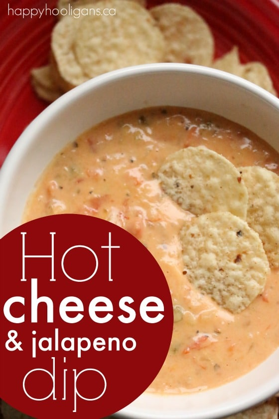 Hot Cheese Dip with Velveeta, Old White Cheddar and Jalapeno Pepper - Happy Hooligans