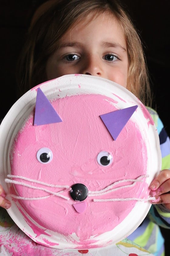 Paper Plate Kitty Cat Craft