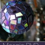 Mosaic DVD Ornaments - Another use for old cds and dvds